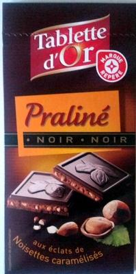 Chocolat noir Praliné aux éclats de noisettes caramélisées