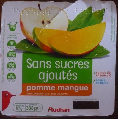 Compotes pomme mangue sans sucres ajoutés