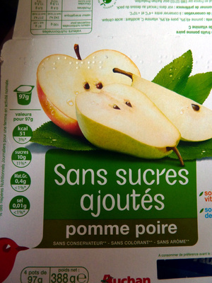 Compote pomme-poire sans sucres ajoutés