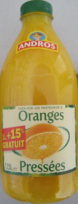 Jus pasteurisé d'Oranges Pressées