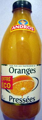 100% pur jus pasteurisé d'Oranges pressées Andros