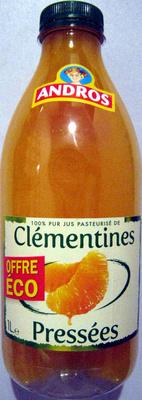 100% pur jus pasteurisé de Clémentines pressées Andros