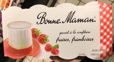 Yaourt à la confiture fraises, framboises