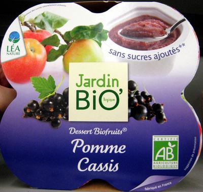 Dessert Biofruits Pomme Cassis Jardin Bio