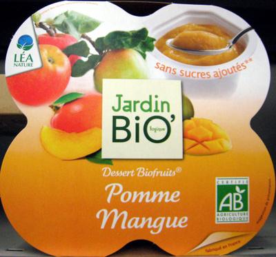 Dessert Biofruits Pomme Mangue Jardin Bio