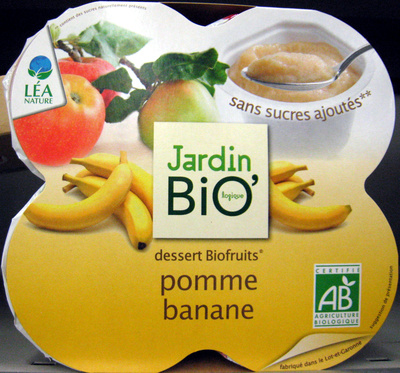 Dessert Biofruits Pomme Banane Jardin Bio