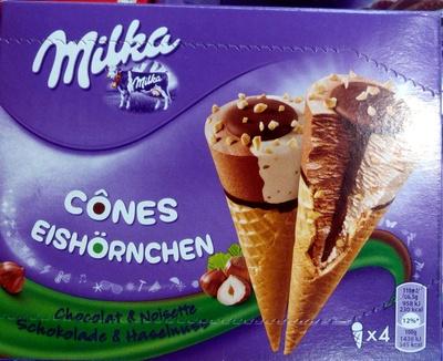 Cones chocolat & noisette