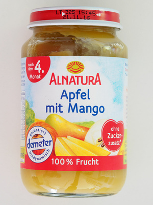 Apfel mit Mango