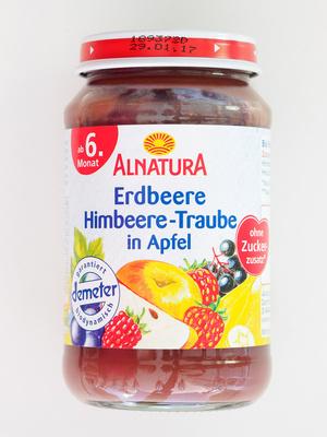 Erdbeere Himbeere-Traube in Apfel