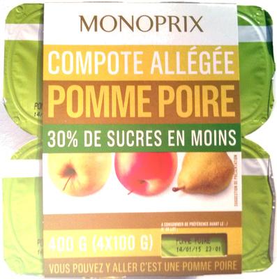 Compote Allégée Pomme Poire