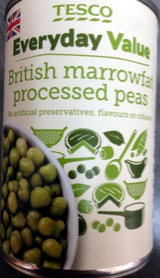 British marrowfat processed peas