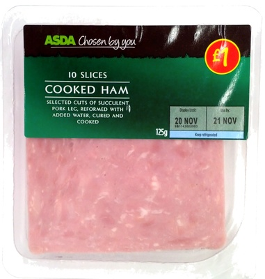 10 slices Cooked Ham
