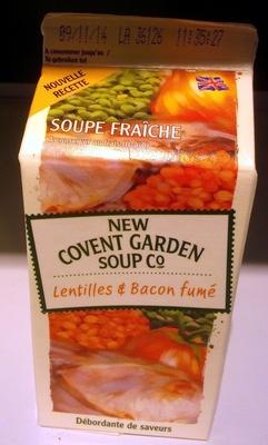 Soupe fraîche Lentilles & Bacon fumé