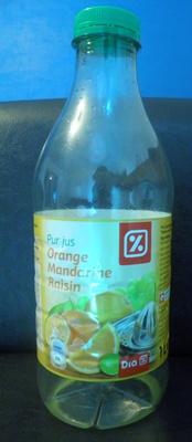 Pur Jus Orange-Mandarine-Raisin Dia