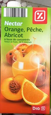 Nectar Orange, Pêche, Abricot