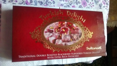 Traditional Double Roasted Blackberry Flavoured Turkish Delight With Extra Rich Pistachio
